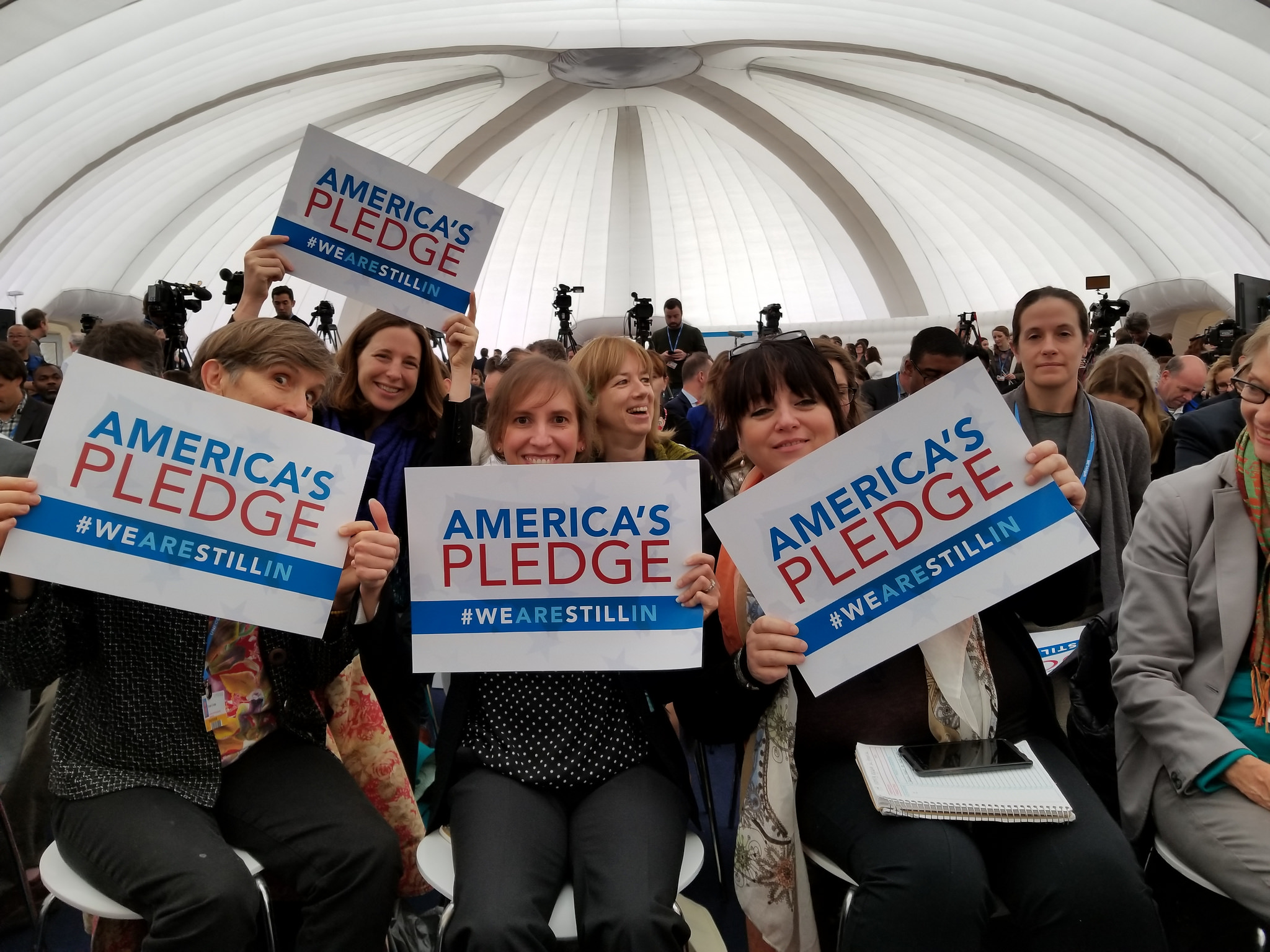 <p>At an event where America's Pledge was announced. Flickr/WRI</p>